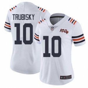 Women Bears Mitchell Trubisky 100th Season Jersey